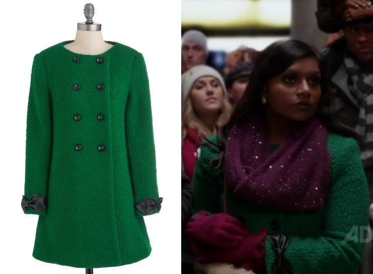 """Nishe have brought back Mindy's coat from """"Josh and Mindy's Christmas Party"""" in two new colors for this winter! /// Nishe Double Bre..."""