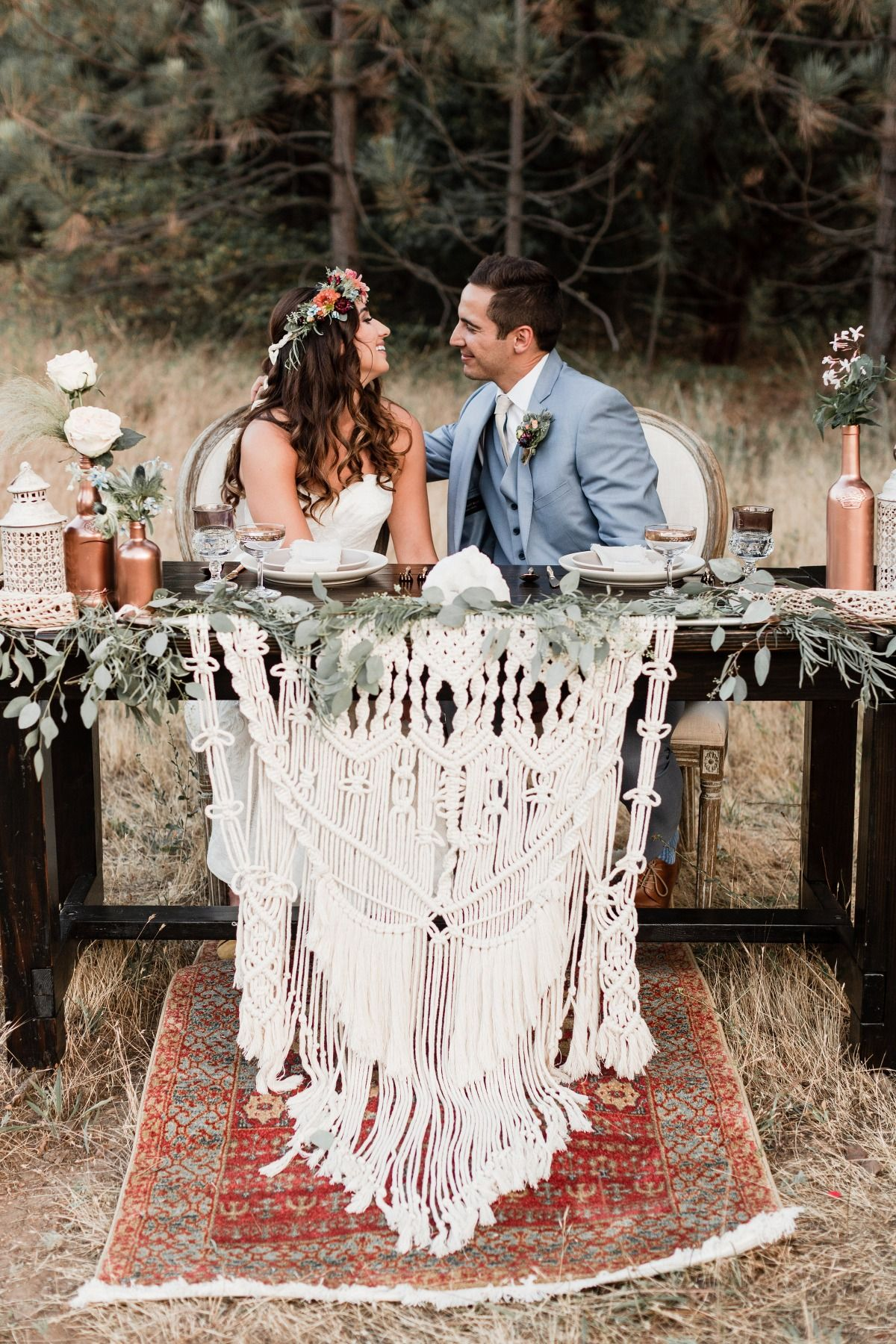 How To Use Macrame On Your Wedding Day | Flower centerpieces wedding, Wedding  centerpieces, Sweetheart table wedding
