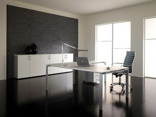 minimalist office. A Modern Minimalist Office Design Might Look Too Cold And Sterile For You, But\u2026