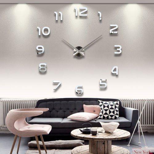 soledi grande horloge moderne murale silencieuse avec chiffres