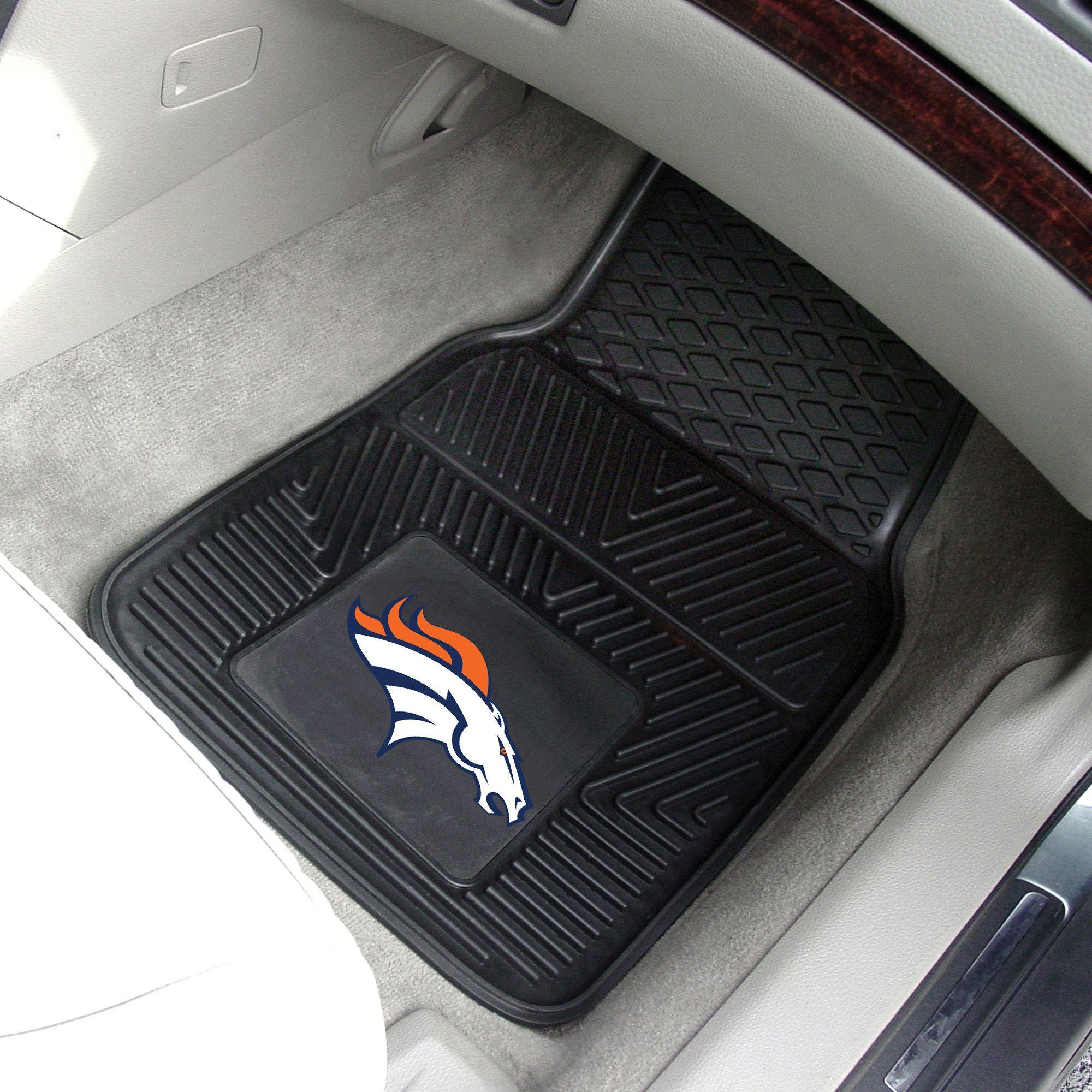 Denver Broncos 2 Piece Heavy Duty Vinyl Car Mat Set Products Car Mats Car Bronco 2