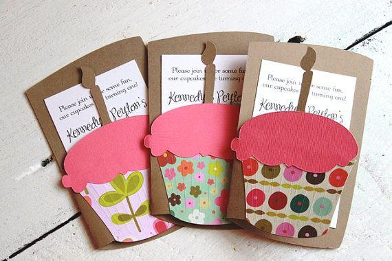 Cutesy cupcake invitations!