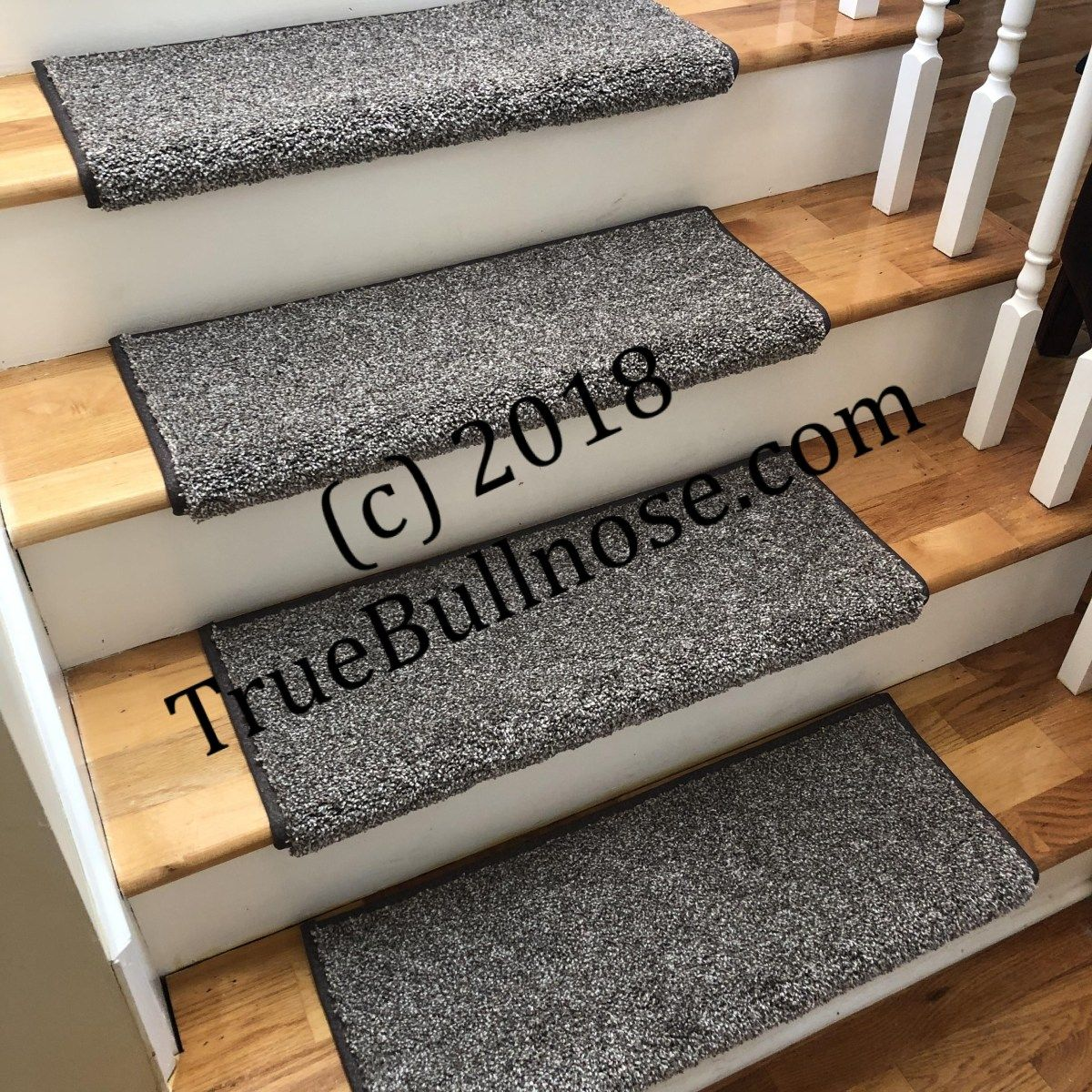 Best Coastal Charm Driftwood True Bullnose™ Padded Carpet Stair Tread Runner Replacement For Style 640 x 480