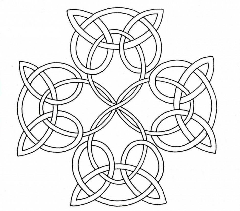 Celtic Knot Coloring Page - Celtic Cross | Embroidery | Pinterest ...