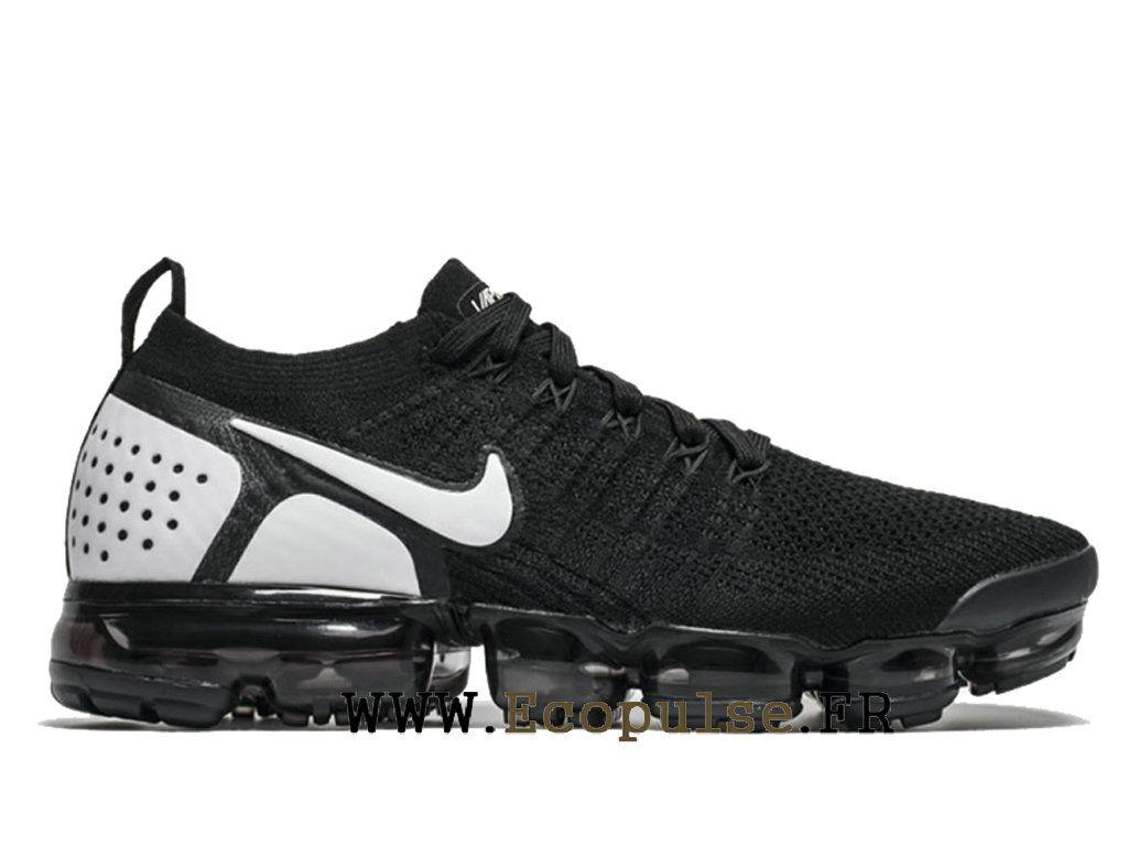 2dc5a2adb247c Nike Vapormax Flyknit 2.0 Chaussures Nike 2018 Pas Cher Pour Homme Noir  Blanc 942842-010