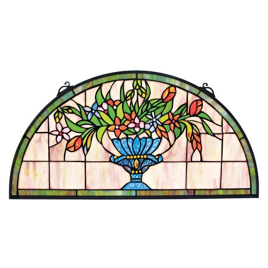 Titchfield Abbey Demi Lune Window Stained Glass Window Hanging Stained Glass Window Panel Stained Glass Wall Art