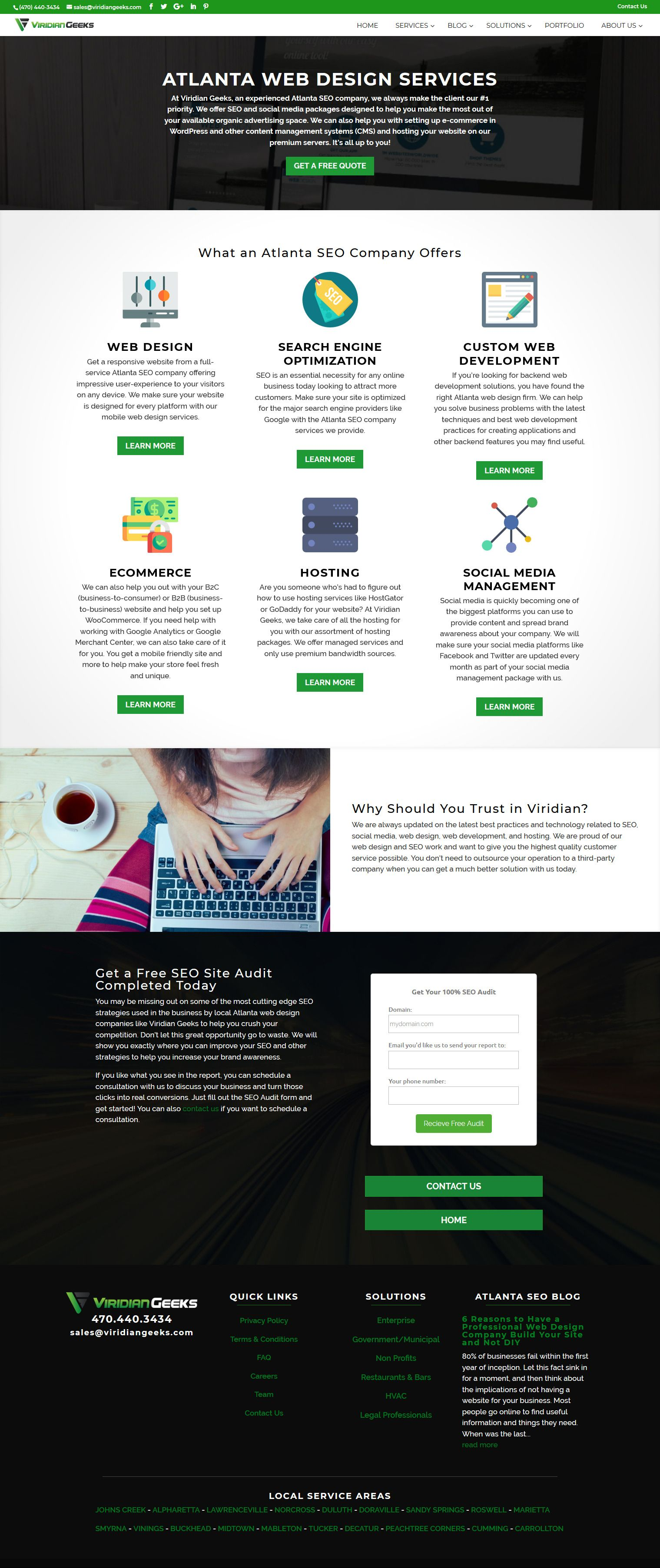 Waterfall Page Of Our Current Service Offerings Web Design Services Digital Marketing Solutions Web Design