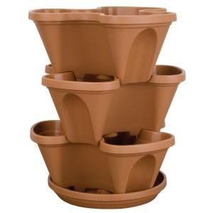 Stack A Pot Resin Stackable Planter Rzjmin0 At The Home Depot Stackable Planters Lawn And Garden Vertical Garden Planters