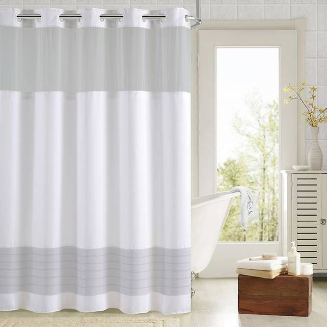 Hookless Aruba Pleats Color Block Shower Curtain With Images