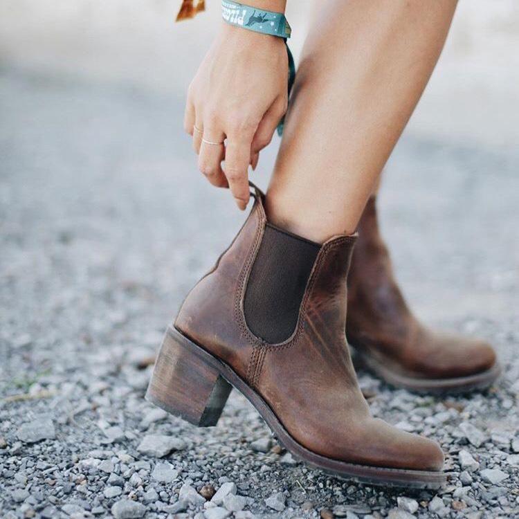 Stylish Leather High Heel Women Boots 9