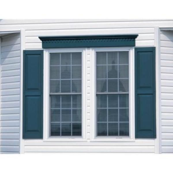 Builders Edge 12 In X 31 In Raised Panel Vinyl Exterior Shutters Pair In 002 Black Exterior Siding Colors Exterior Paint Colors For House Window Shutters Exterior