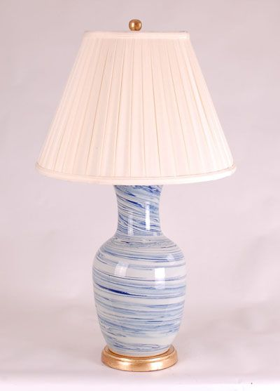 LIGHT BLUE LAMP: Avala And Summerour Lamps