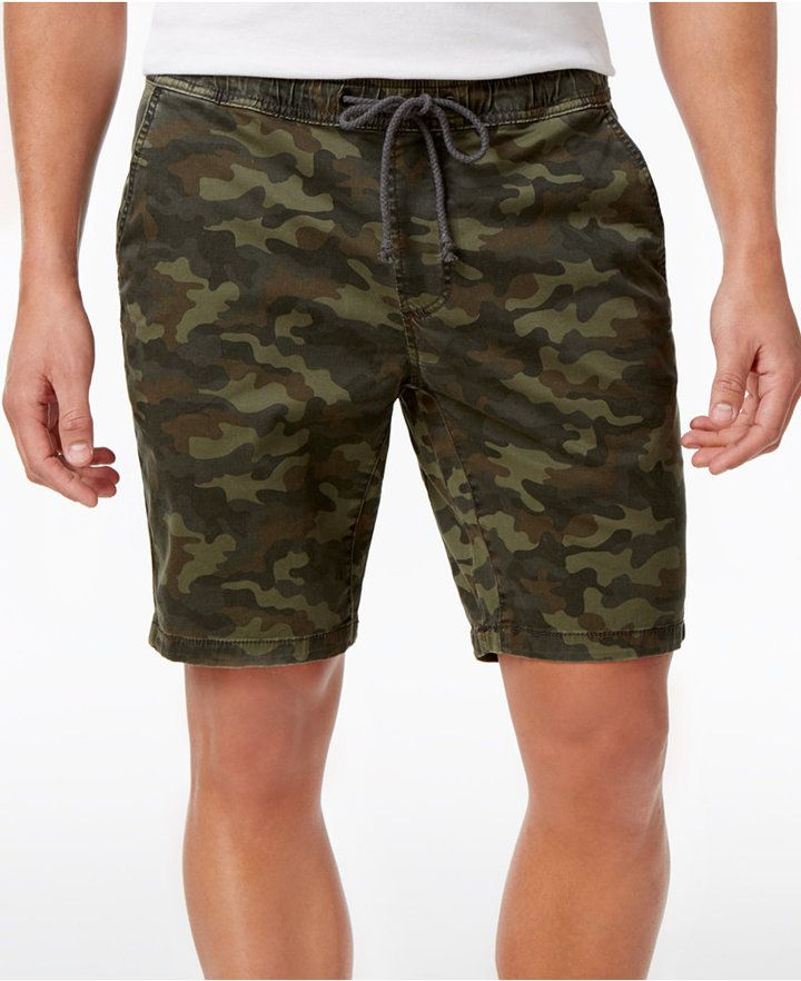 d88811434810b American Rag Men's Stretch Camo Twill Drawstring Jogger Shorts, Created for  Macy's