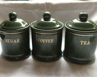 Dark Green And Gold Ceramic Tea Coffee