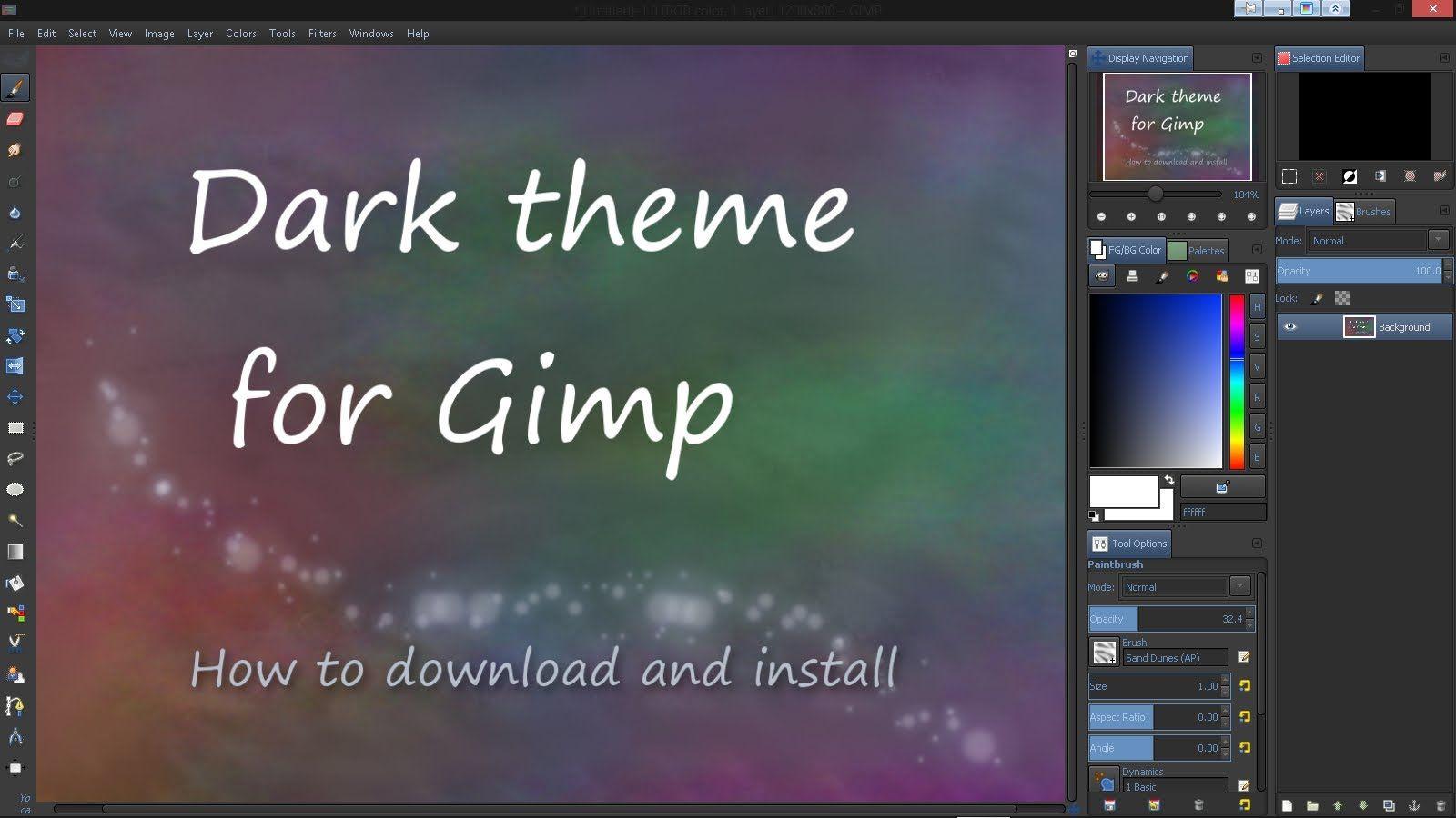 Dark Theme For Gimp Digital Painting Tutorials