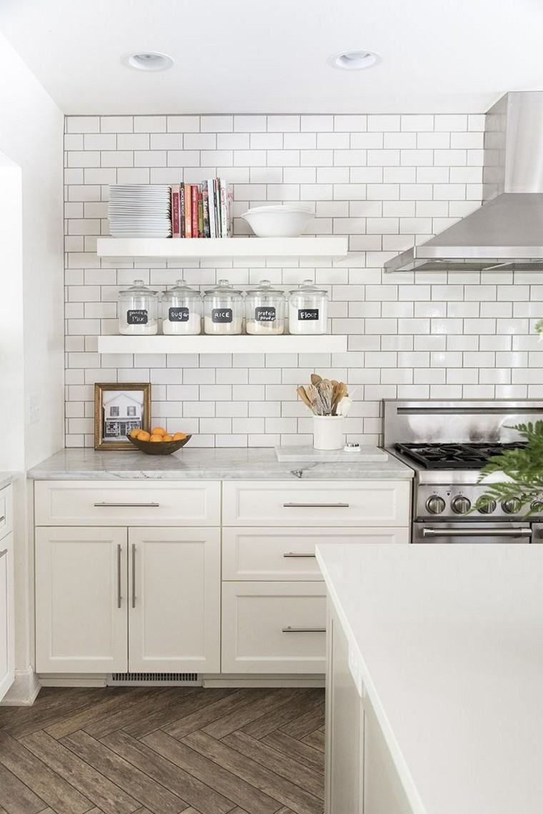 White kitchen design: selection of 20 purified and bright kitchen ...