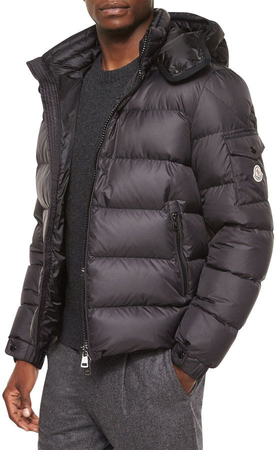 90881b8fe Moncler Himalaya Hooded Down Jacket, Black | Don't MEN-shion it ...