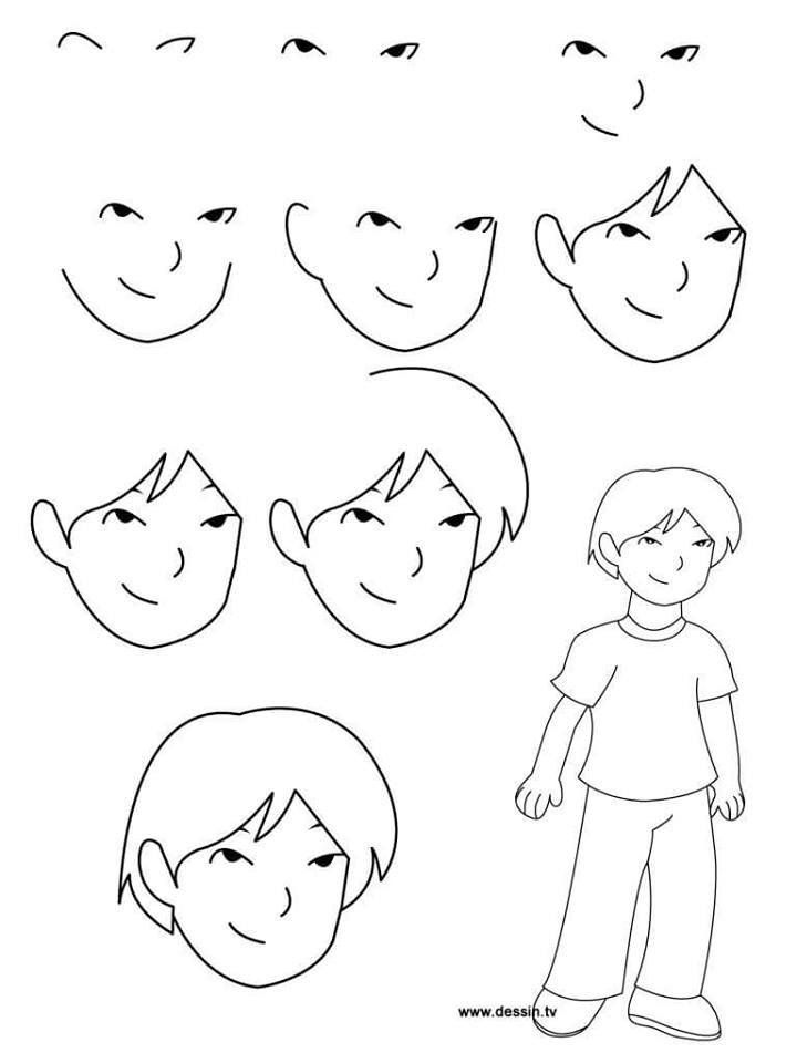 Pin By Vanny Ferrer On Kid S Can Draw With Images Boy Cartoon Drawing Art Drawings For Kids Drawing Cartoon Characters