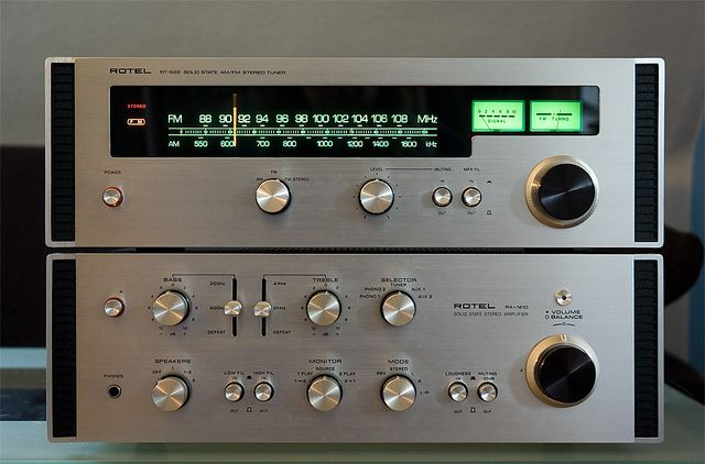 Rotel RA 1210 RT 622 Integrated Amp And Tuner Same Vintage As My RX 802 Receiver Which I Still Have Love Today Has Always Represented Great