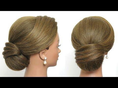 Easy Elegant Hair Bun Prom Updo Hairstyle Tutorial Youtube Hair Bun Tutorial Prom Hair Updo Bun Hairstyles