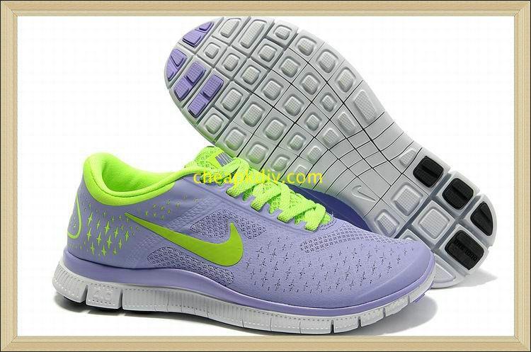 detailed look a7122 80506 Womens Nike Free 4.0 V2 Purple Fluorescence Green Runner 2012  Purple   Womens  Sneakers
