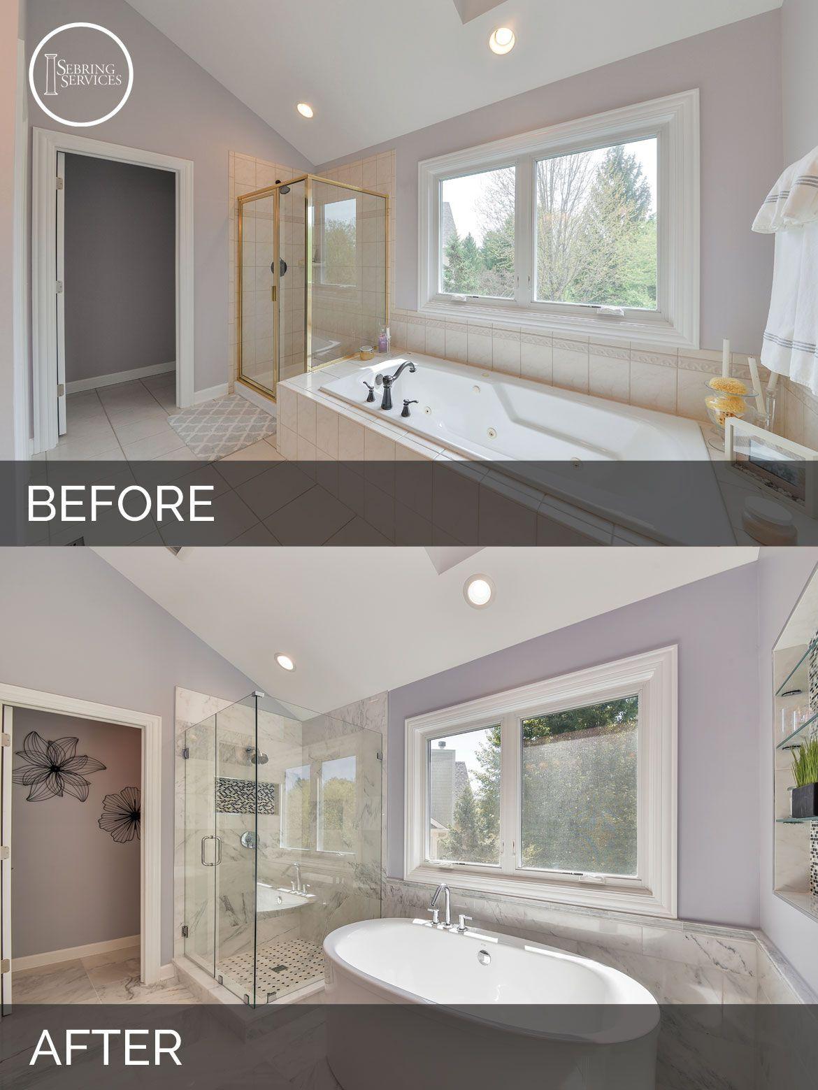 Doug Natalie S Master Bath Before After Pictures Bathroom Remodel Master Bathrooms Remodel Master Bathroom Renovation