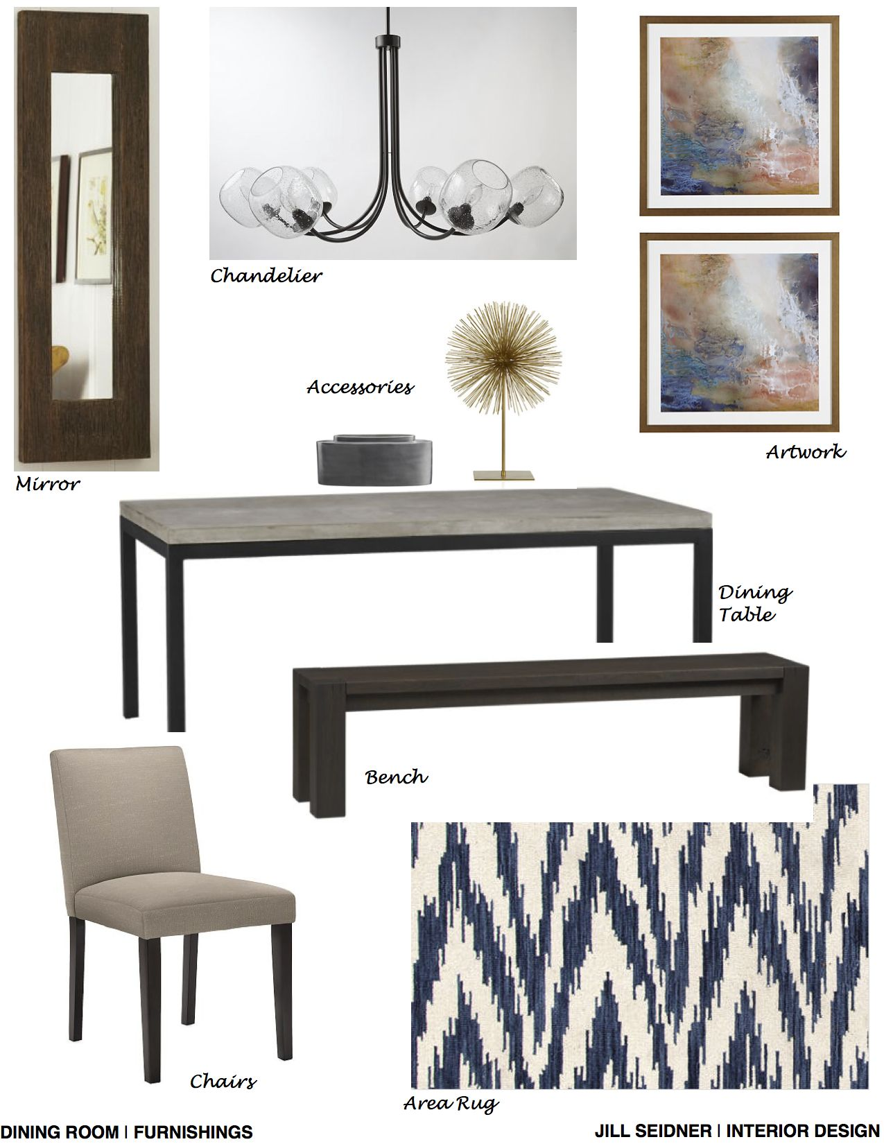 South Pasadena CA Residence Online Design Project Dining Room