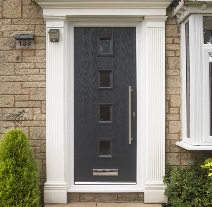 Safestyle Doors Oak Half Glazed
