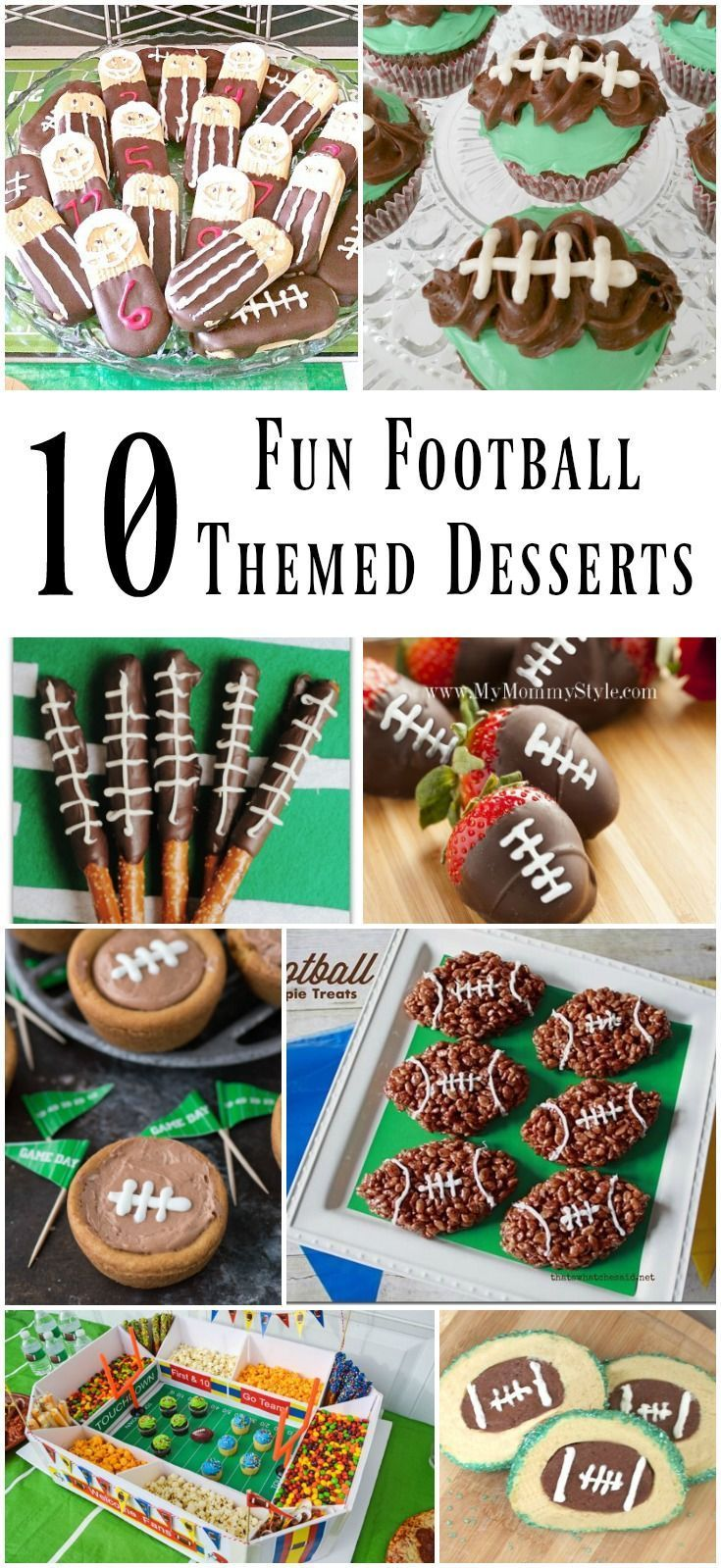10 Fun Football Themed Game Day Desserts - Cupcakes, Brownies, Pretzels, and More!