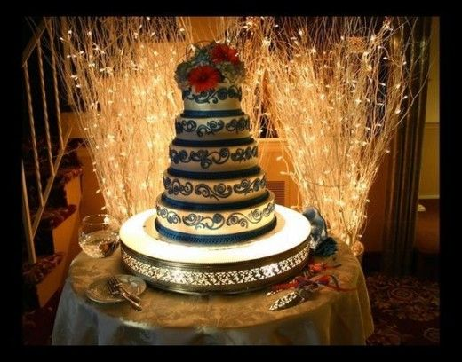 Cake Table Wedding Reception Decorations