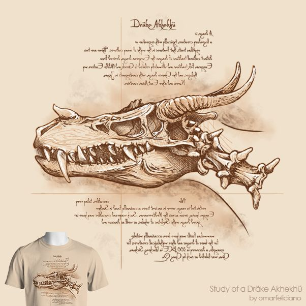 Da Vinci styled anatomy drawing of a dragon | Fantasy Realms and RPG ...
