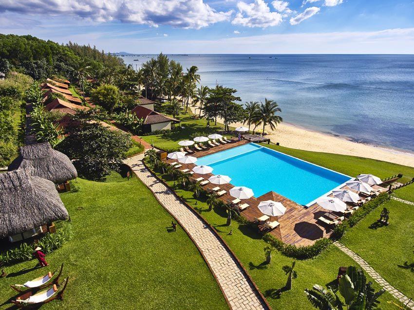 Aerial Pool Side View Of Chen Sea Beach Resort Vietnam Uoc Luxurystay Beachstay Beachlover