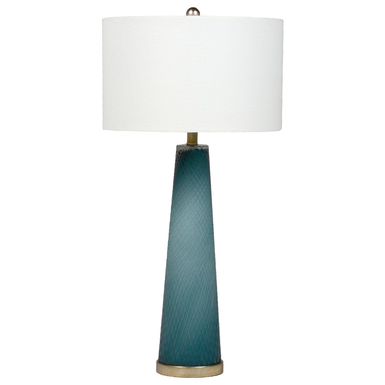 Marvelous Minimalist In Design, The Gabby Lighting Brianna Lamp Complements A  Tabletop With Bold Color. On A Tapered Conical Glass Base In Varying Shades  Of Blue, ...