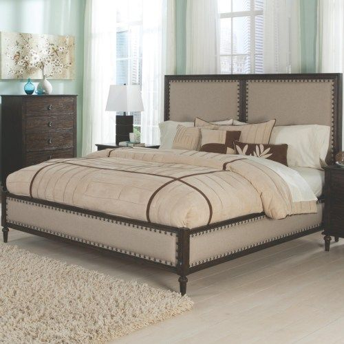 Coaster Saville King Bed with Turned Feet and Nail Head Trim - Coaster Fine Furniture