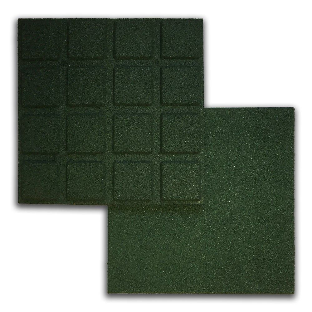 Rubber Tile Green 4pk in 2020 Rubber tiles, Kids play