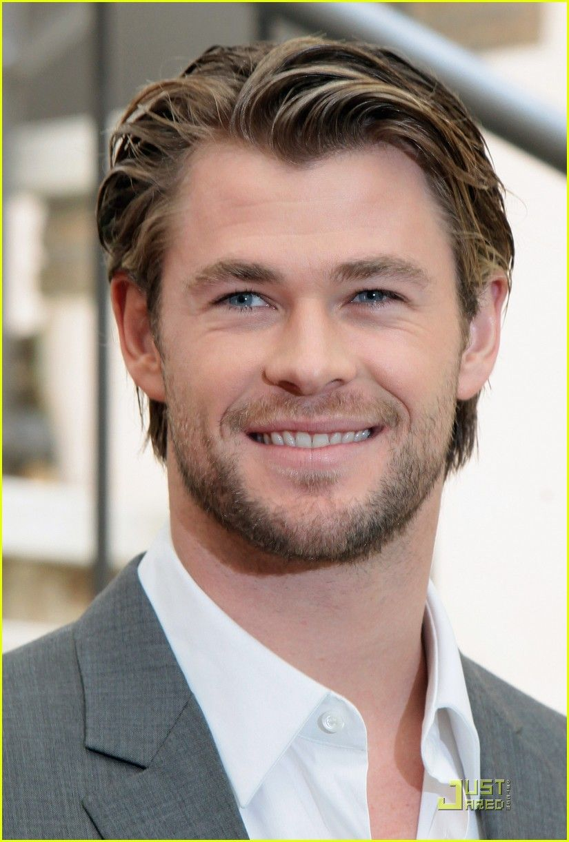 About this photo set: Chris Hemsworth suits up for a photo call to