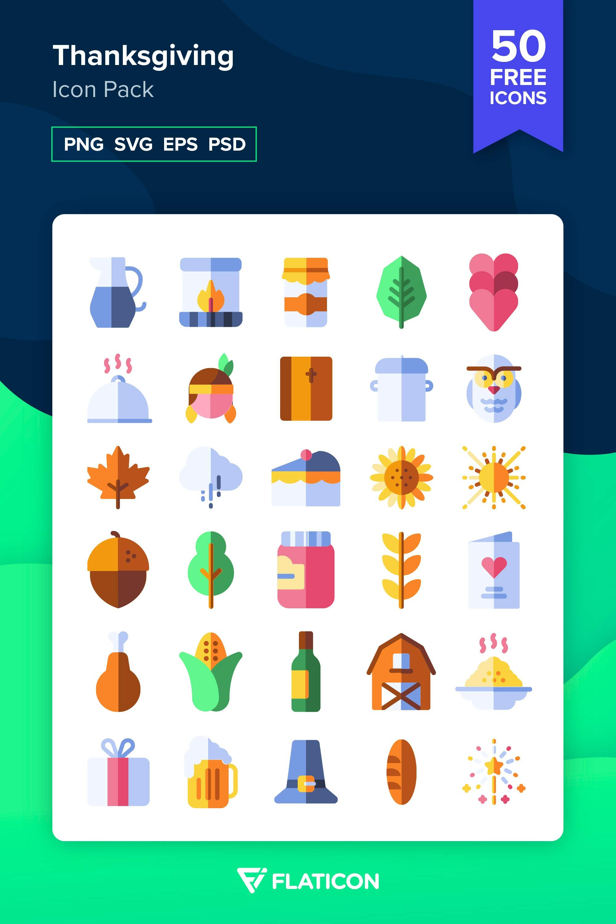 50 free vector icons of Thanksgiving designed by Freepik
