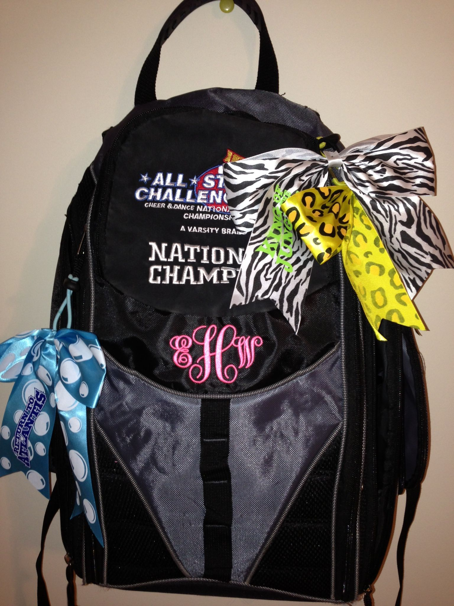 National Championship Cheer backpack by KellyGrams  5a9ee8ebdd4c5