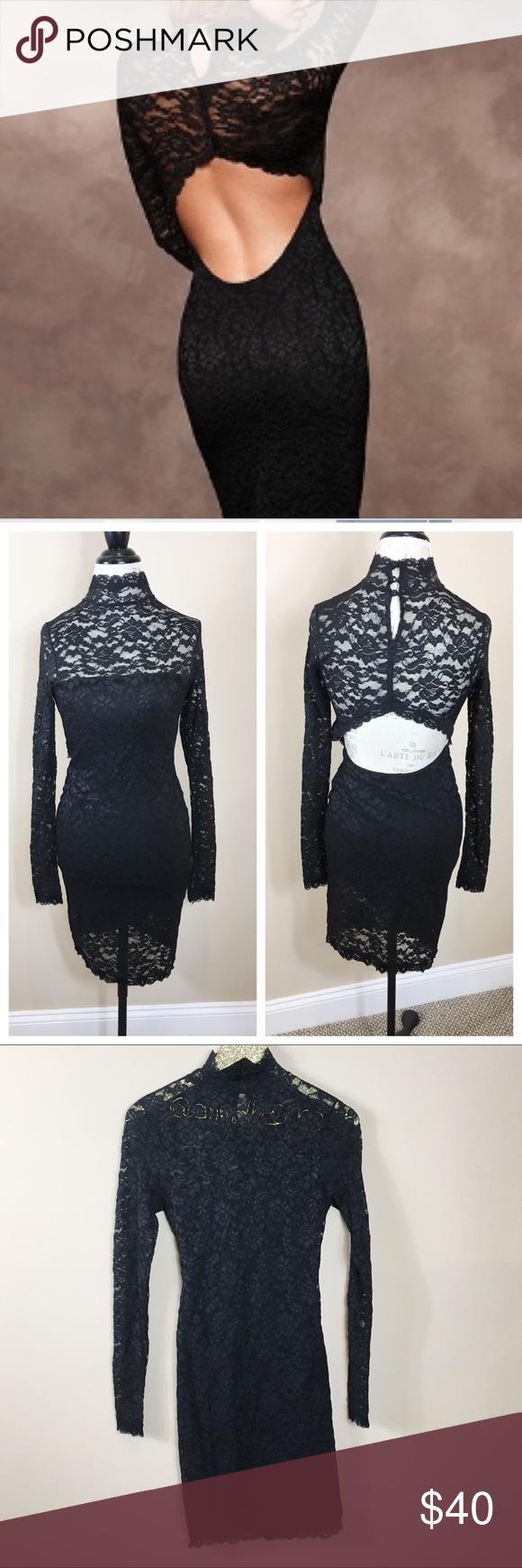 Victoria S Secret Black Lace Open Back Dress Clothes Design Open Back Dresses Black Lace [ 1740 x 580 Pixel ]