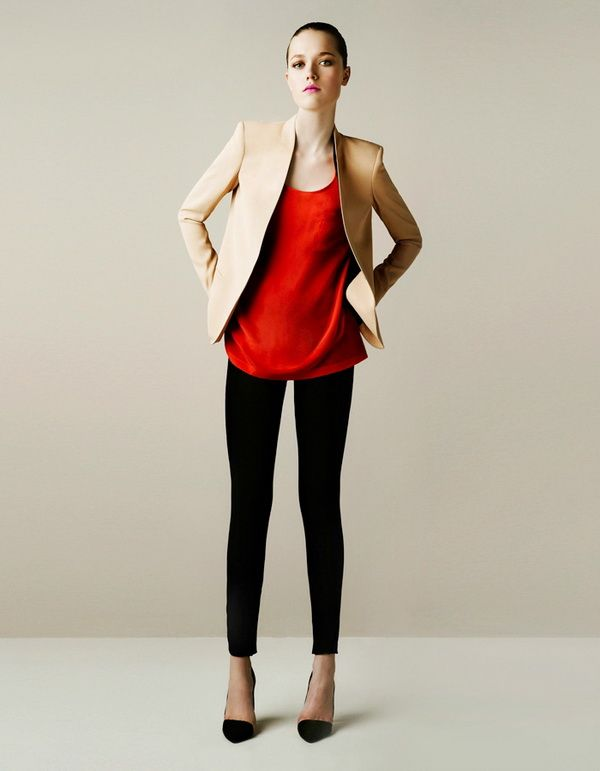 Perfect combination ! Love the tan blazer, if Zara has anything ...