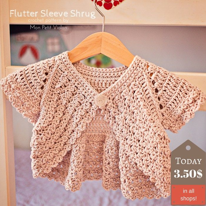 How to make perfect Flutter Sleeve Shrug? That\'s easy! (Mon Petit ...