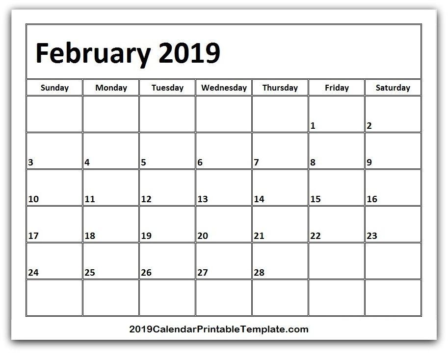 Html Calendar Template | February 2019 Calendar Template Https Www