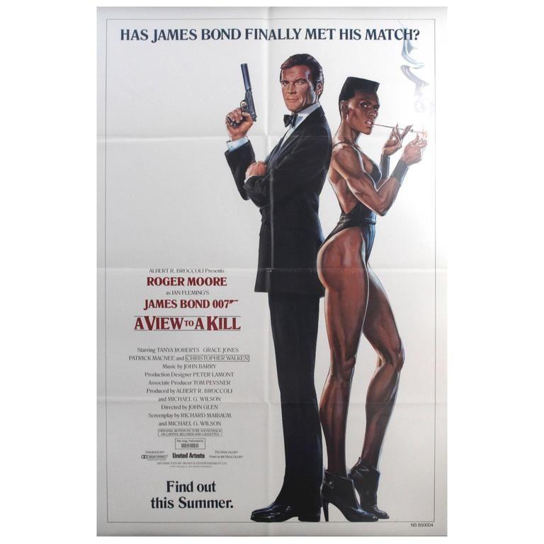 Original Vintage 007 James Bond Movie Poster A View To A Kill