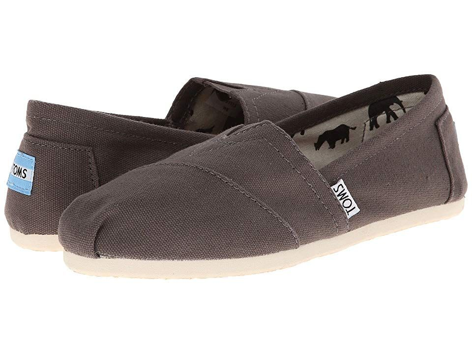 TOMS Classics Ash Canvas Womens Slip on Shoes With every pair of shoes you purchase TOMS will give a new pair of shoes to a child in need One for One Keeping it simple is...