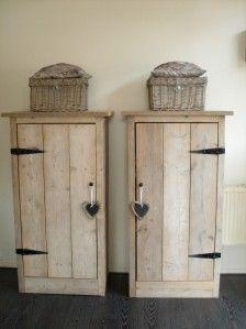Leuke kasten, ook goed zelf te maken van steigerhout | Slaapkamer ...