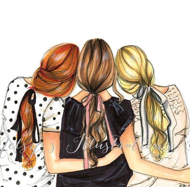 Pin De Nadoosh Sy Em Illustration Art Tres Melhores Amigos Amigos Desenho Imagens De Amigos
