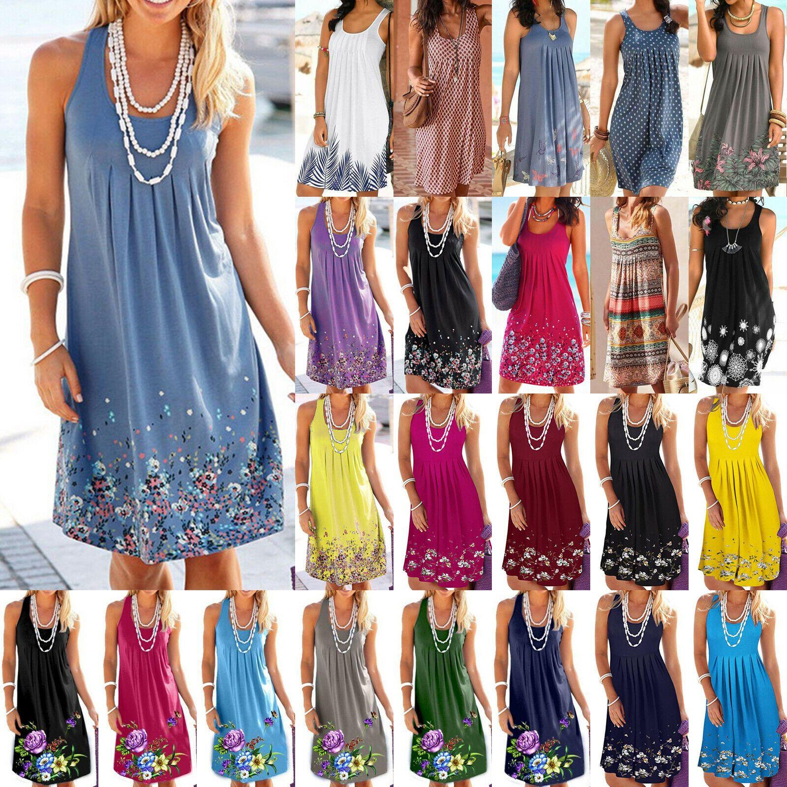 kleider damen boho hippie lose minikleid strand sommerkleid