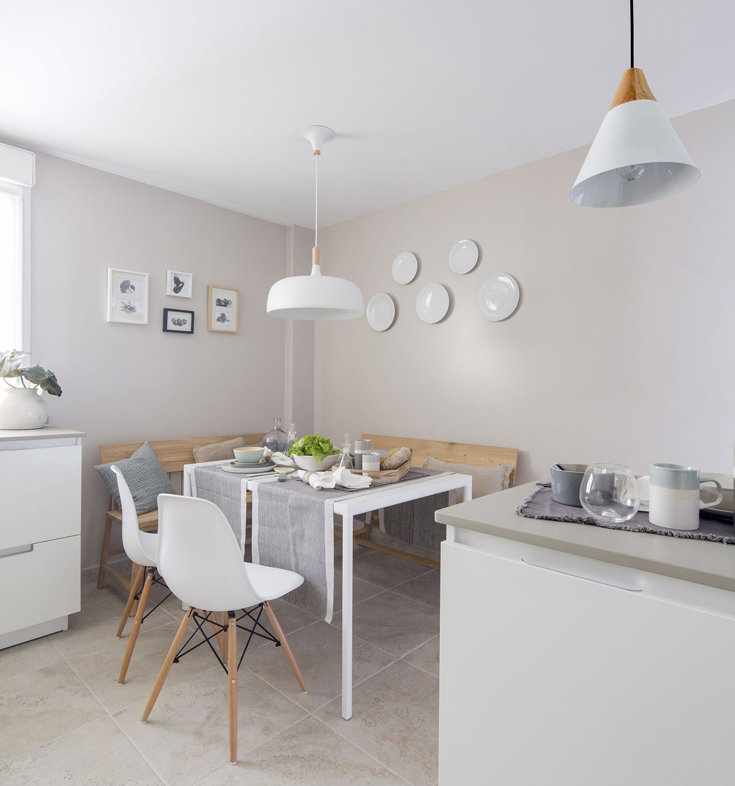Office y cocina color blanco modelo minos de la casa for Lamparas diseno imitacion