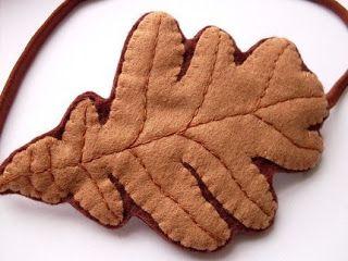 oak leaf hairbands