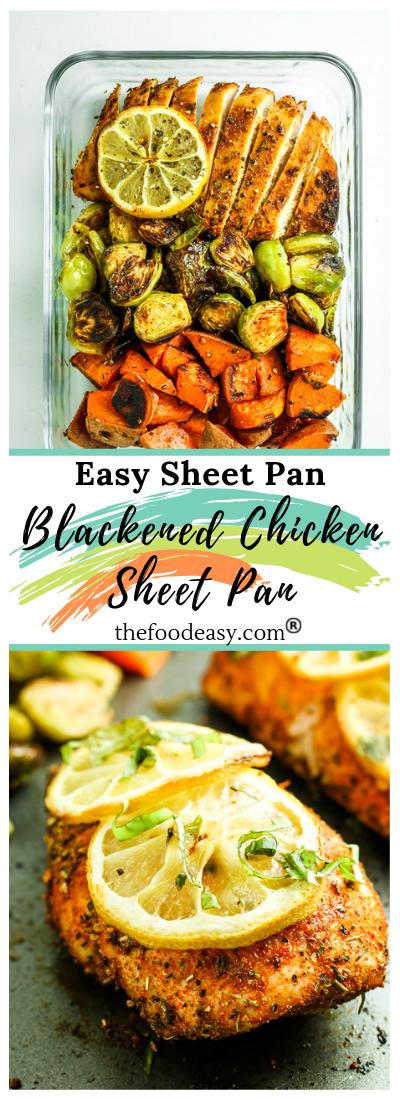 Blackened Chicken Sheet Pan #blackenedchicken